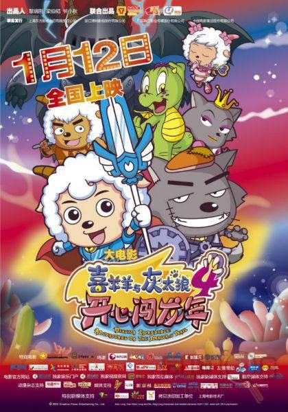 与此同时,2011年寒假上映的动画片《熊猫总动员》拿下4000多万元票房