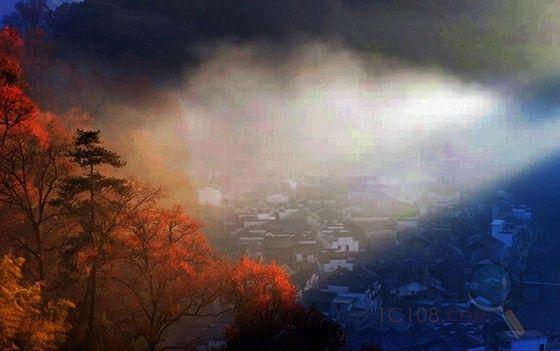 梦幻雨天风景图片