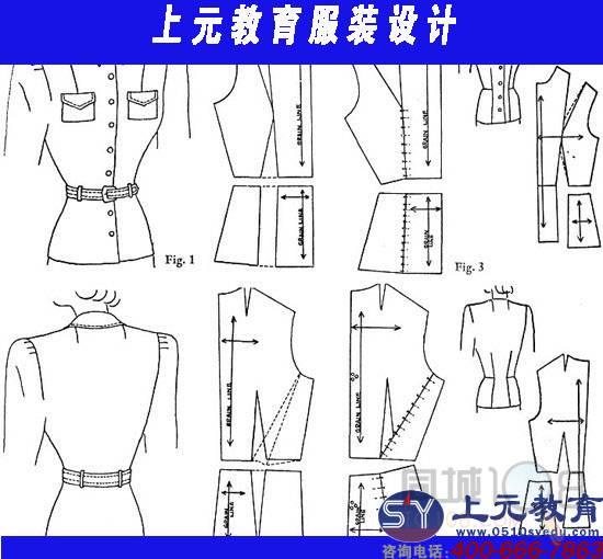 落肩袖袖制版结构图