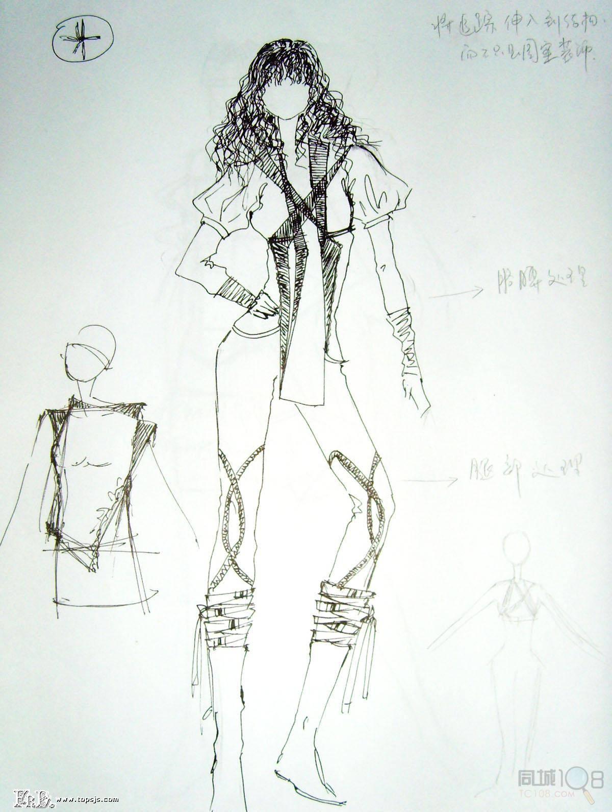 为后面的服装手绘效果图,时装画,人体的绘画打下基础.  2.