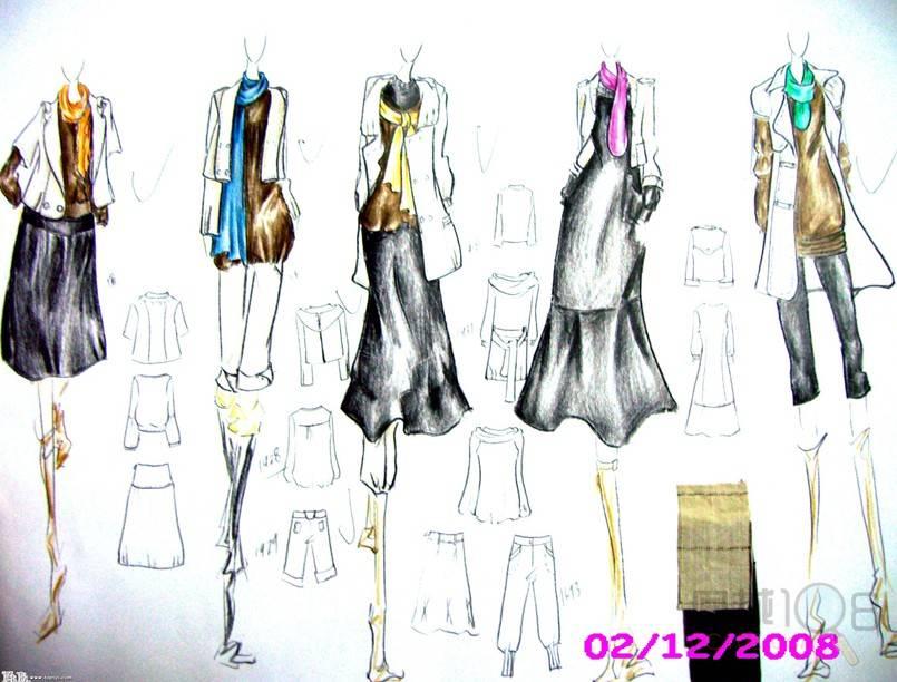 服装手绘效果图设计