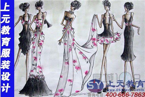 服装手绘效果图设计      主要学习内容有时装画中的人物形象:人体