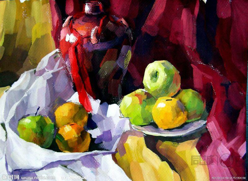 色彩理论,色彩画,年画,创作,观摩大师作品.