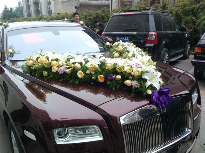 中式主婚车装饰图片