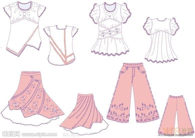 服装手绘效果图设计 主要学习内容有时装画中的人物