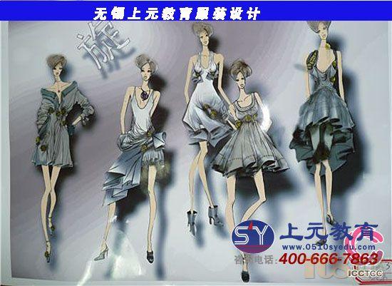 服装手绘效果图设计 主要学习内容有时装画中的人物形象:人体比例
