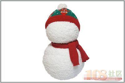 用两双袜子diy可爱圣诞小雪人