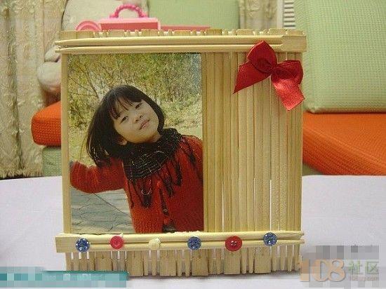 74簡約時尚的一次性筷子做相框diy作品
