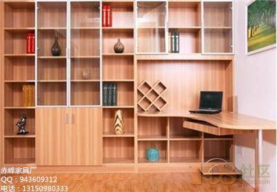 板式家具书架板式双层床带书柜图片7