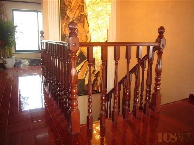 高中档实木楼梯钢木楼梯铁艺铜艺栏杆扶手